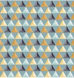 Seamless geometric triangle grid pattern vector