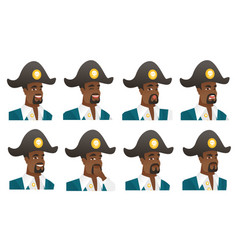 Set of pirate characters vector