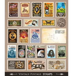 stamp collection vector image