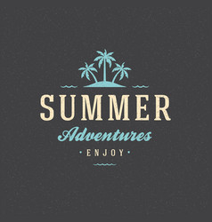 Summer holidays poster design on textured vector