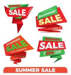 Summer sale sale label price tag banner badge vector