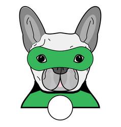 Superhero symbol as a french bulldog character vector