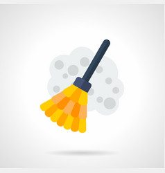 sweeping flat color icon vector image