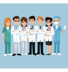 team health care hospital doctor and nurse vector image