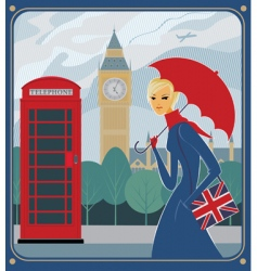 London scene vector image
