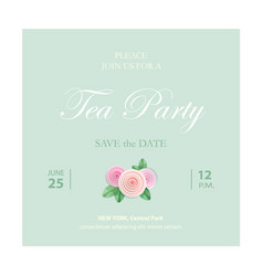 Save the date invitation card wedding template vector