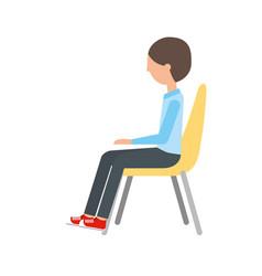 Man sitting on chair vector