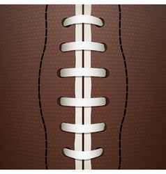 American football closeup vector