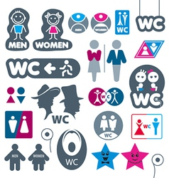 biggest collection of labels toilet vector image
