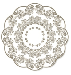 Lace flower round napkin vector