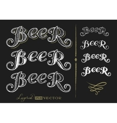 Word beer vector