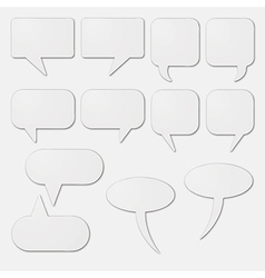 White speech bubble cards vector