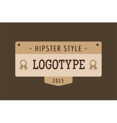 Hipster modern thin style logo vector
