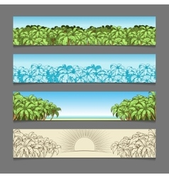 Banner ads palm tree theme vector image