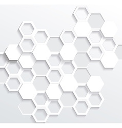 Hexagonal abstract 3d background vector