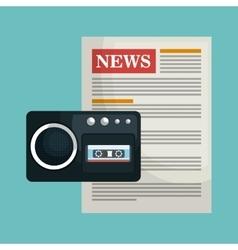Breaking news design vector