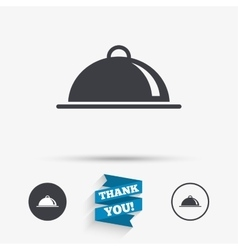 Food platter serving sign icon table setting vector