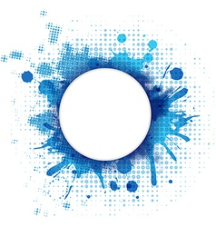 Abstract Blue Background With Blob And Bubble vector image