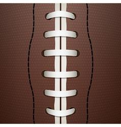 American football closeup vector
