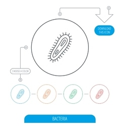 Bacteria icon Medicine infection symbol vector image vector image