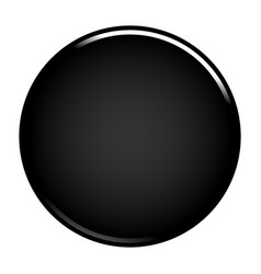 Black circle button blank web internet icon vector