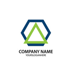 business company logo shape polygon vector image vector image