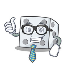 Businessman dice character cartoon style vector