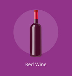 Closeup of red wine icon on vector