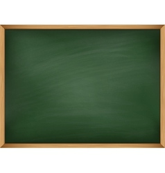 Empty green chalkboard with wooden frame Template vector image vector image