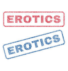 Erotics textile stamps vector