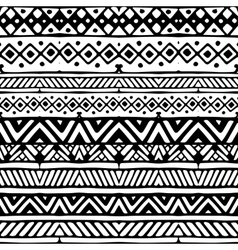 Ethnic mexican tribal stripes seamless pattern vector image