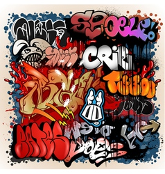 graffiti street art background vector image vector image