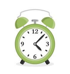 Green Alarm Clock vector image vector image