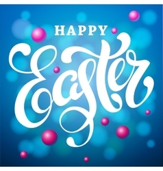 Happy easter lettering card modern calligraphy vector