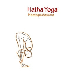Hatha yoga hastapadasana vector