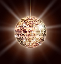 Mirror disco ball poster vector image