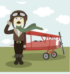 pilot in uniform vector image vector image