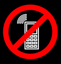 sign forbidding to use the phone vector image