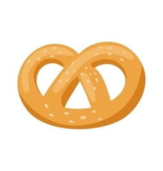 Soft pretzel isolated salty snack fresh german vector