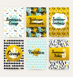 tropical trendy brochures vector image