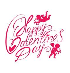 valentine day calligr 2 380 vector image vector image