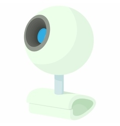 Webcam icon in cartoon style vector