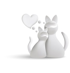 White cats vector image vector image