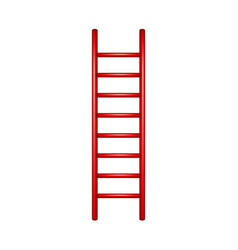 wooden ladder in red design vector image
