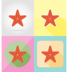 Objects for recreation a beach flat icons 12 vector