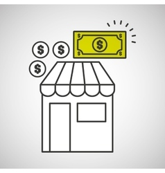 shopping store buy money coins dollar icon graphic vector image
