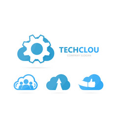 gear and cloud logo combination vector image