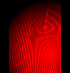 Abstract bright red smooth stripes background vector