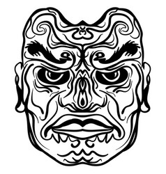 tattoo design of tribal mask vector image