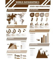 Infographic demographics 9 brown vector